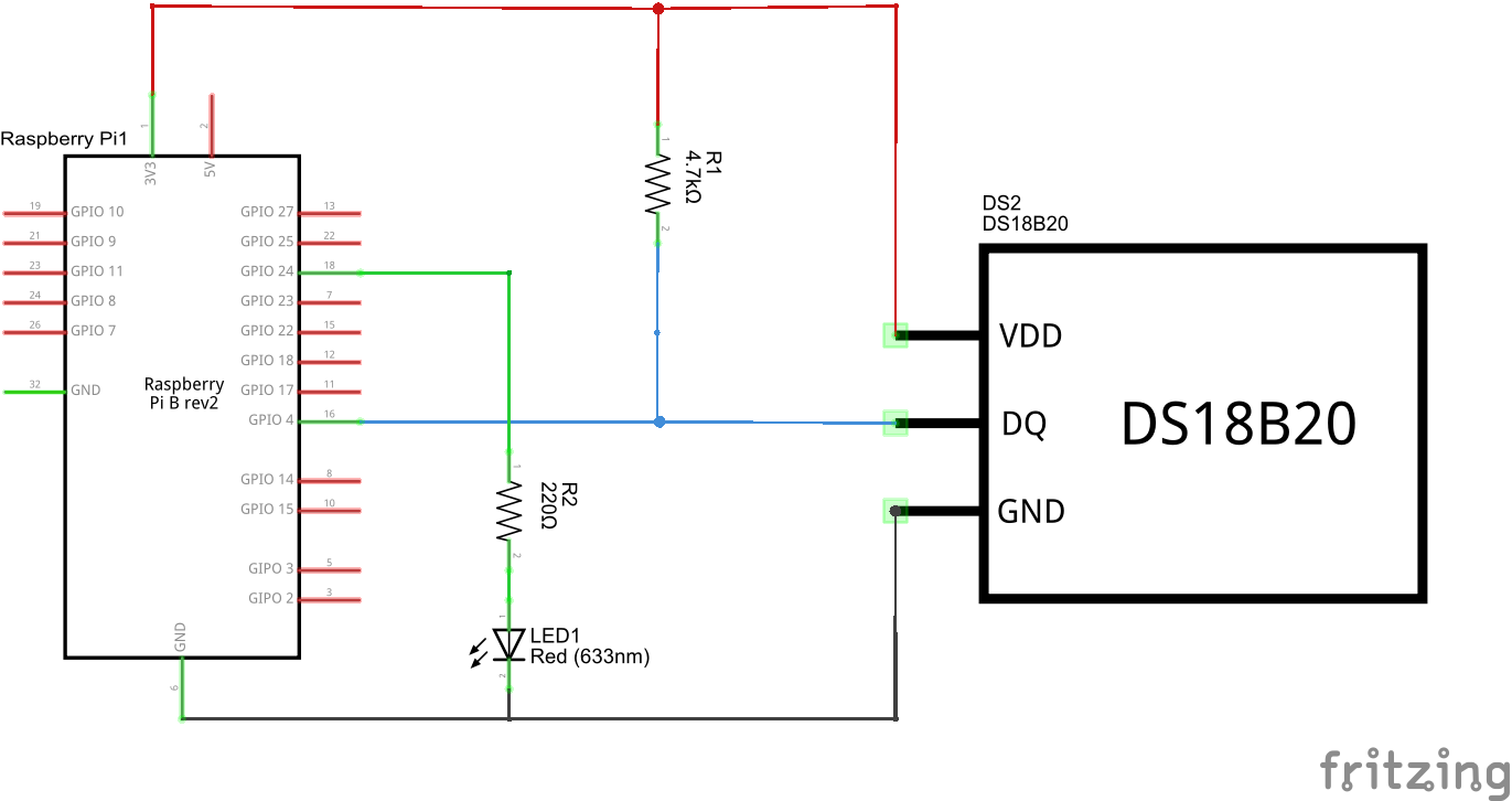 How to connect a temperature sensor