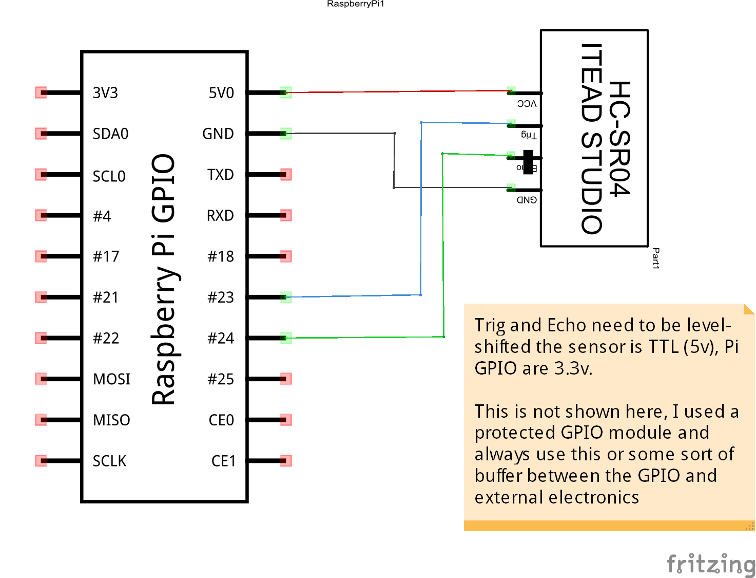 Raspberry Pi And Hc Sr04 Ultrasonic Range Sensor Bits Datasheet Schem