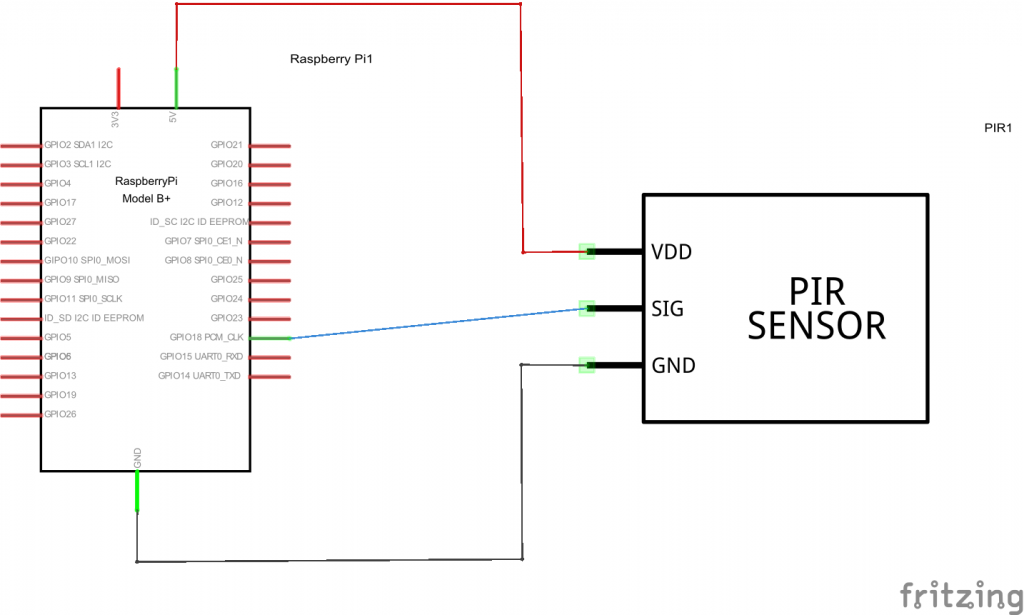 Pi and PIR schematic