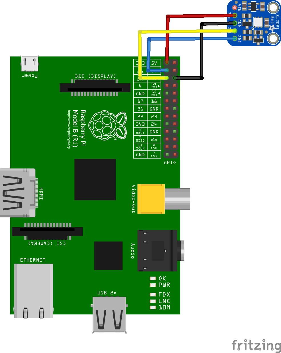 Raspberry Pi and SI7021 sensor example | Pi bits