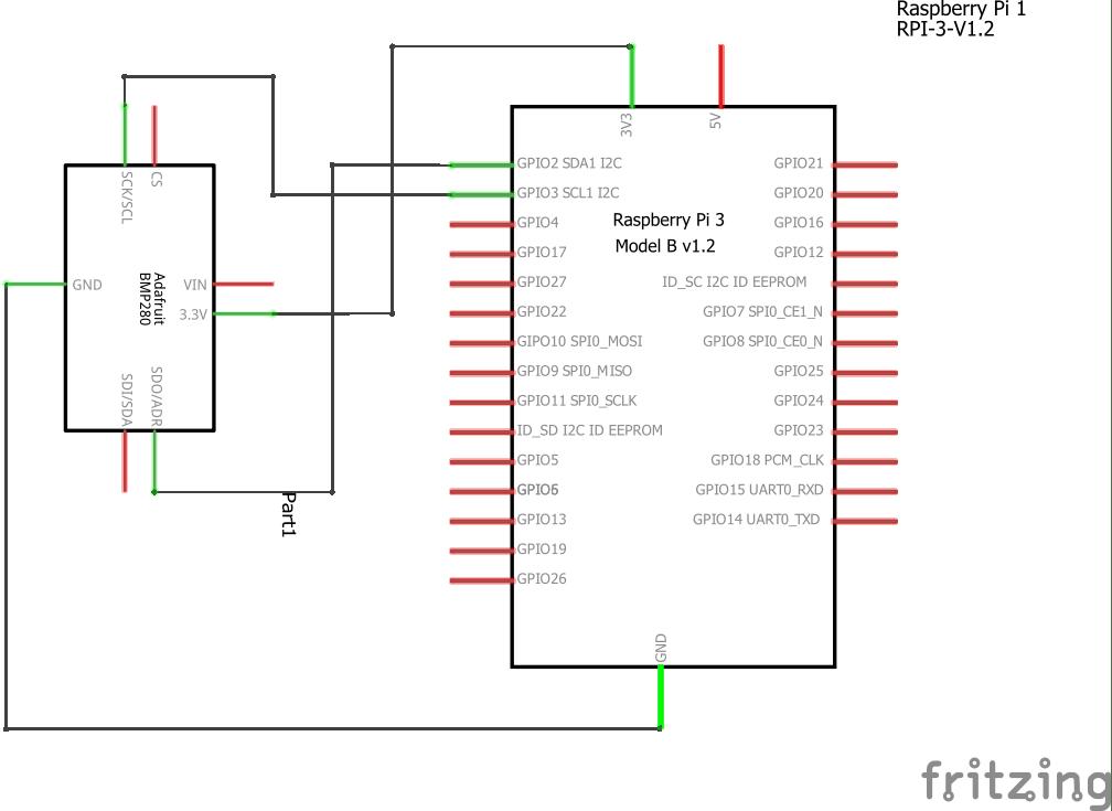 Raspberry Pi and BMP280 sensor example   Pi bits