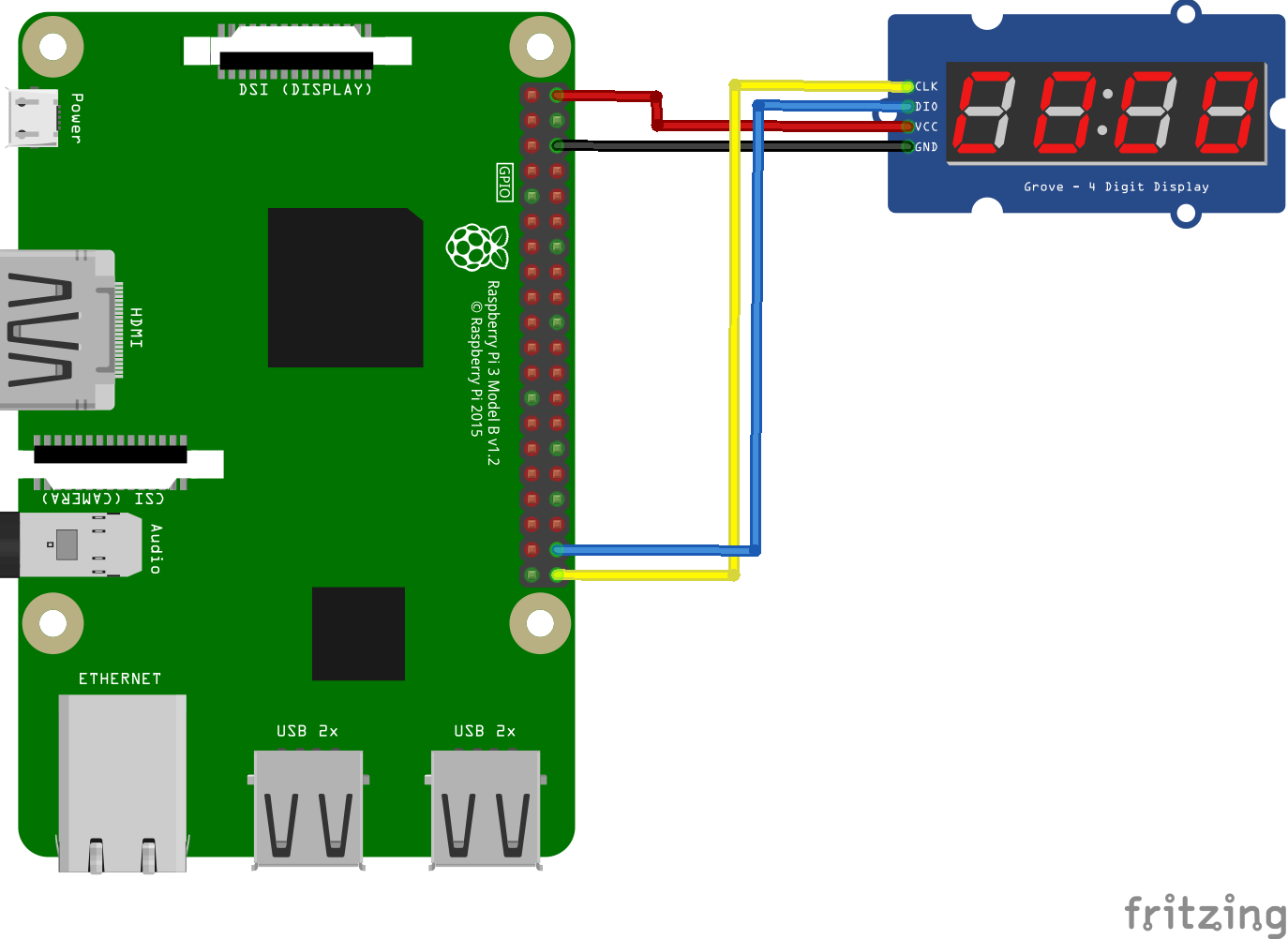 TM1637 7 segment display example on a Raspberry Pi | Pi bits